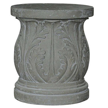 Acanthus Garden Stool / Table in Antique Stone Finish