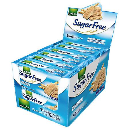 Gullón Sugar Free Vanilla Wafer Cookies - 2.74 oz. - 12 pk.