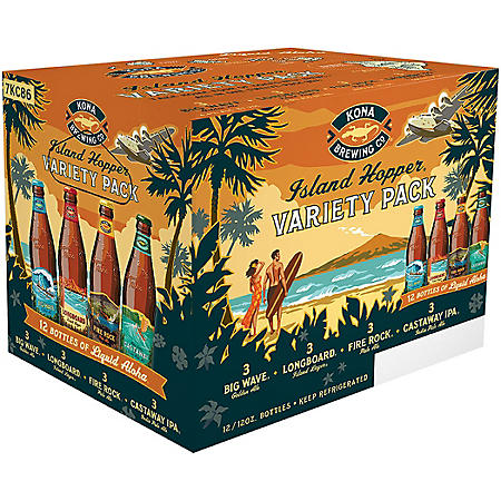 Kona Island Hopper Variety Pack Ale (12 fl. oz. bottle, 12 pk.)