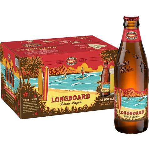 Kona Longboard Lager (12 fl. oz. bottle, 24 pk.)