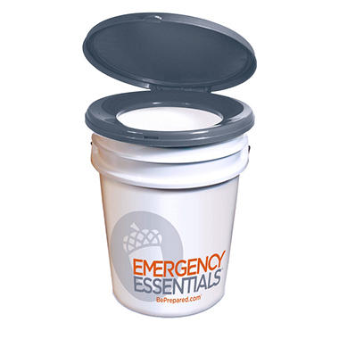 Emergency Essentials Camping And Survival Toteable Toilet Seat Lid With 5 Gallon Bucket