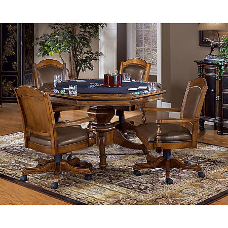 Hillsdale Furniture Nassau Game Table and Chairs, 5-Piece Set