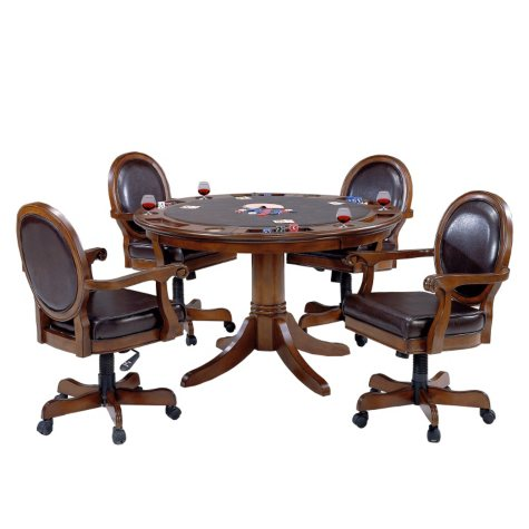 Hillsdale Furniture Warrington Game Table and Chairs, 5-Piece Set