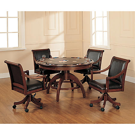 Hillsdale Furniture Palm Springs Game Table and Chairs, 5-Piece Set