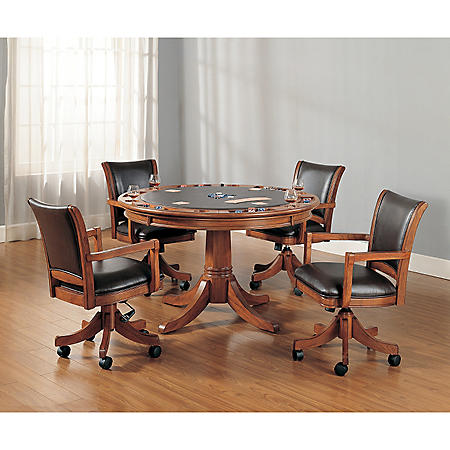 Hillsdale Furniture Park View Game Table and Chairs, 5-Piece Set