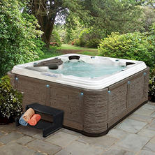 Everlast Spas Premiere 80-Jet Spa (Rock Millstone/Sterling Silver)