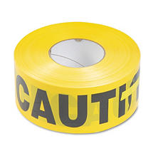 "Tatco Caution Barricade Safety Tape - Yellow (3""W x 1,000')"