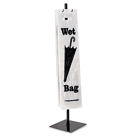 Tatco - Wet Umbrella Bag Stand, Powder Coated Steel, 10w x 10d x 40h -  Black