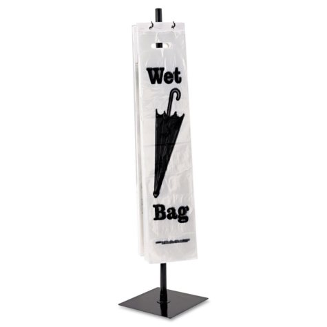 Tatco - Wet Umbrella Bag Stand, Powder Coated Steel, 10w x 10d x 40h -  Black