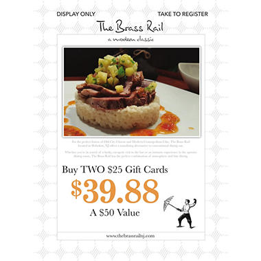 Brass Rail - 2 x $25 Giftcards