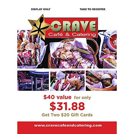 Crave Café - 2 x $20