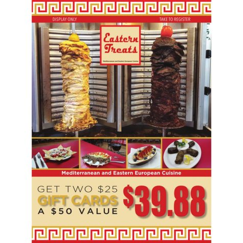 Eastern Treats - 2 x $25 Giftcards