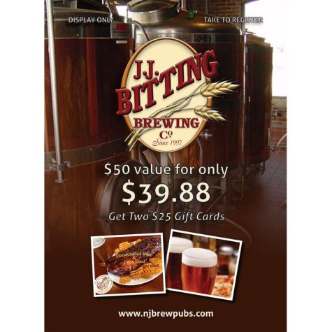 JJ Bitting Brewing Co. - 2 x $25 for $39.88