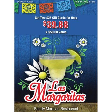 Las Margaritas Ks - 2 x $25 Giftcards