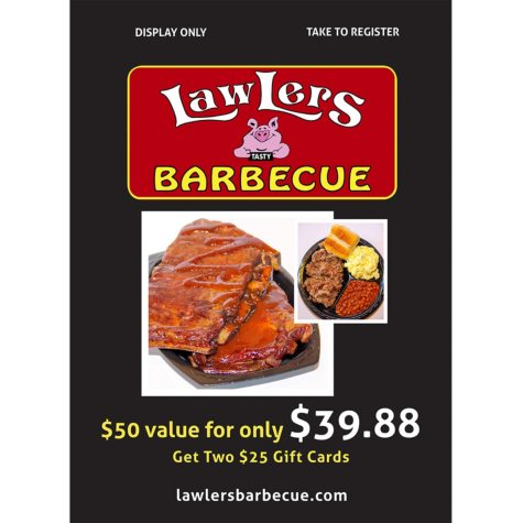Lawlers Barbecue - 2 x $25