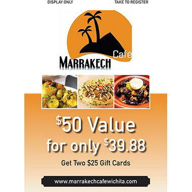 Marrakech Cafe - 2 x $25 Giftcards