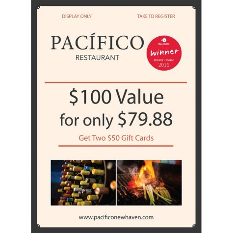 Pacifico - 2 x $50 Giftcards