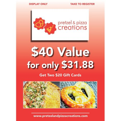 Pretzel And Pizza - 2 x $20 Giftcards