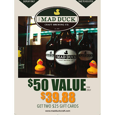 The Mad Duck - 2 x $25 Giftcards