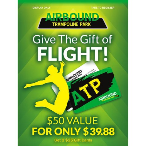 Airbound Trampoline - 2 x $25 Giftcards