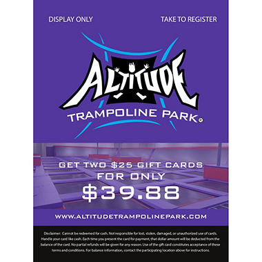 Altitude - 2 x $25 Giftcards