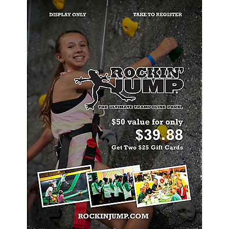 Rockin Jump Williamstown - 2 x $25 Giftcards