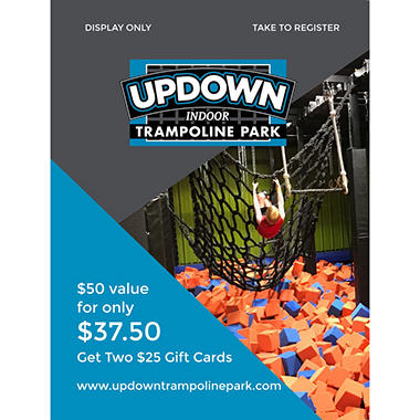 Updown Trampoline - 2 x $25 Giftcards