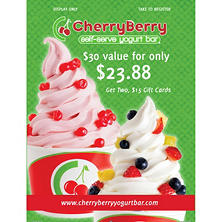 Cherry Berry - 2 x $15 Giftcards