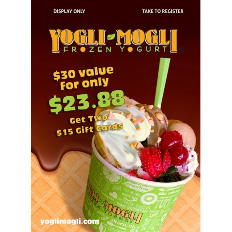 Yogli Mogli $30 Value Gift Cards - 2 x $15