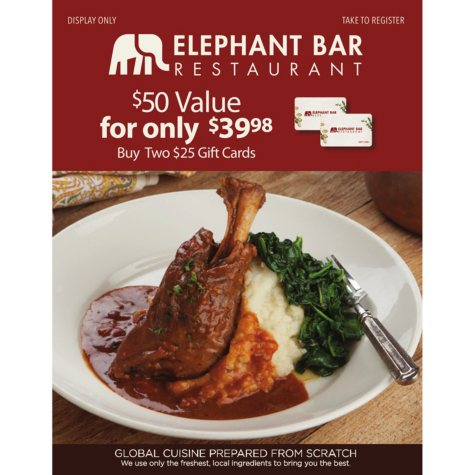 Elephant Bar - 2 x $25