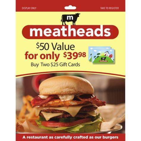 Meatheads Burgers - 2 x $25