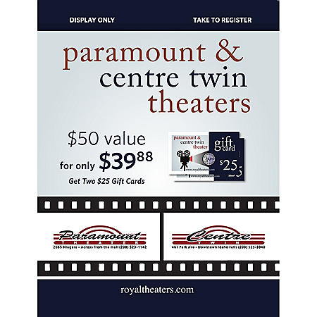 IF Paramount (Royal Theaters Inc.) - 2 x $25