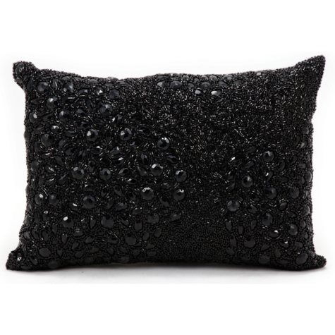 "Fully Beaded 10"" x 14"" Decorative Pillow By Nourison"