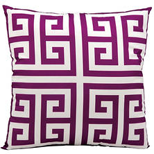 Mina Victory Greek Key Outdoor Throw Pillow (Various Colors)