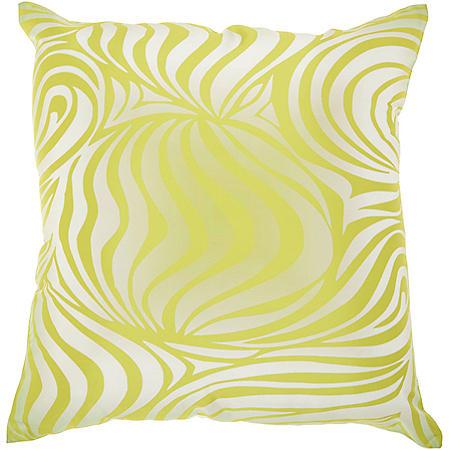 Mina Victory Zebra Green Outdoor Throw Pillow
