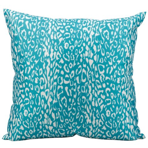 Mina Victory Leopard Outdoor Throw Pillow (Various Colors)