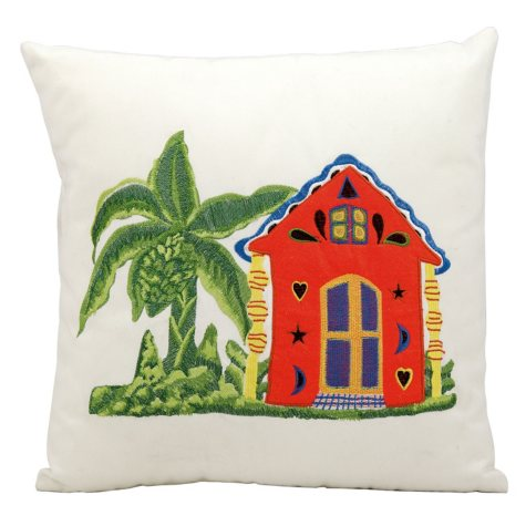 Mina Victory Caribbean Home White Outdoor Throw Pillow
