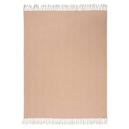 "Nourison Mina Victory Organic Cotton Herringbone Throw 50"" x 70"" (Assorted Colors)"