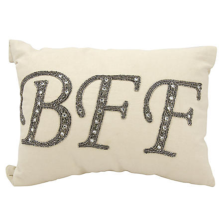 "Champagne Beaded Bff 12"" x 18"" Decorative Pillow By Nourison"