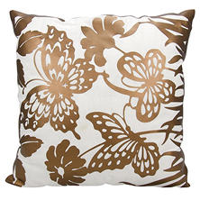 "Copper Butterfly Garden 20"" x 20"" Decorative Pillow By Nourison"
