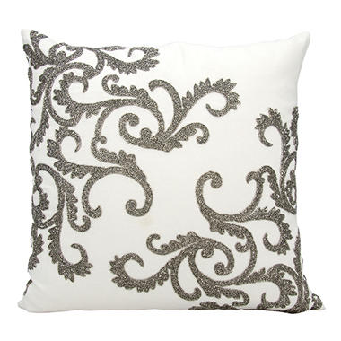 Pewter Beaded Corner Scroll 20