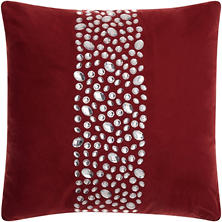 "Burgundy Center Stones 20"" x 20"" Decorative Pillow By Nourison"