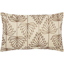 "Copper Beaded Lily Leaves 12"" x 20"" Decorative Pillow By Nourison"
