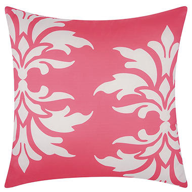Hot Pink Outdoor Throw Pillows : Mina Victory Damask Hot Pink Outdoor Throw Pillow - Sam s Club