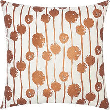 "Copper Metallic Dandelions 20"" x 20"" Decorative Pillow By Nourison"
