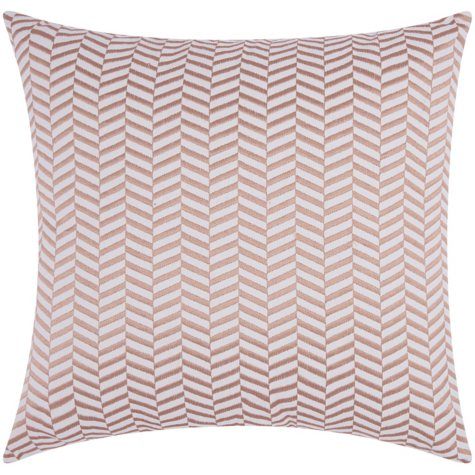 "Rose Gold Alternative Chevron 20"" x 20"" Decorative Pillow By Nourison"