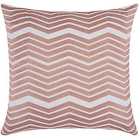 "Rose Gold Thick Chevron 20"" x 20"" Decorative Pillow By Nourison"