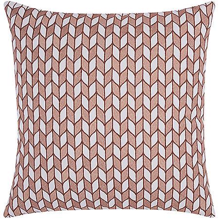 "Rose Gold Block Chevron 20"" x 20"" Decorative Pillow By Nourison"