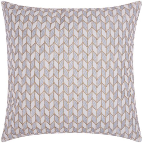"Silver Gold Block Chevron 20"" x 20"" Decorative Pillow By Nourison"