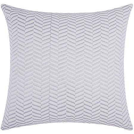 "Silver Alternative Chevron 20"" x 20"" Decorative Pillow By Nourison"